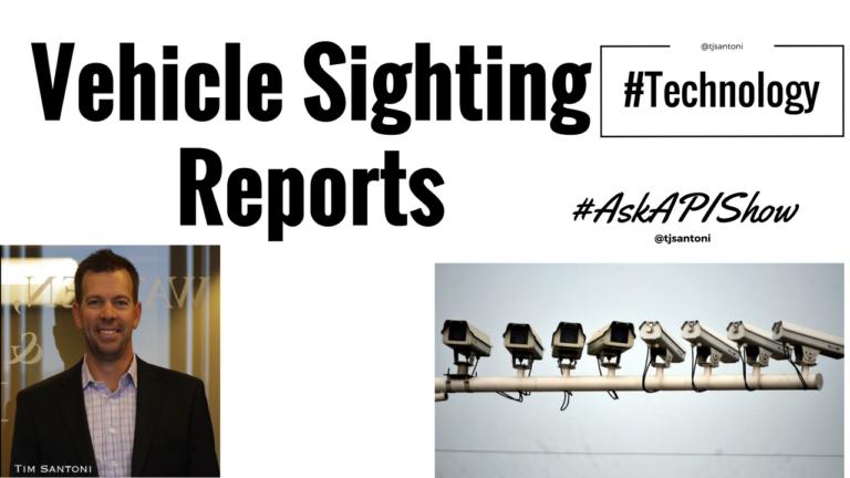 Vehicle Sighting Reports