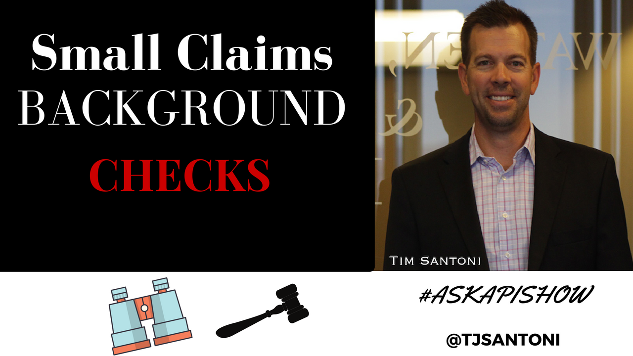 Small Claims Background Checks
