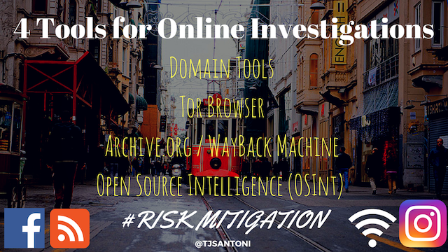 4 Tools for Online Investigations