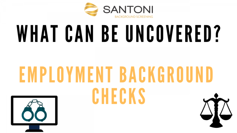 what can be uncovered in an employment background check