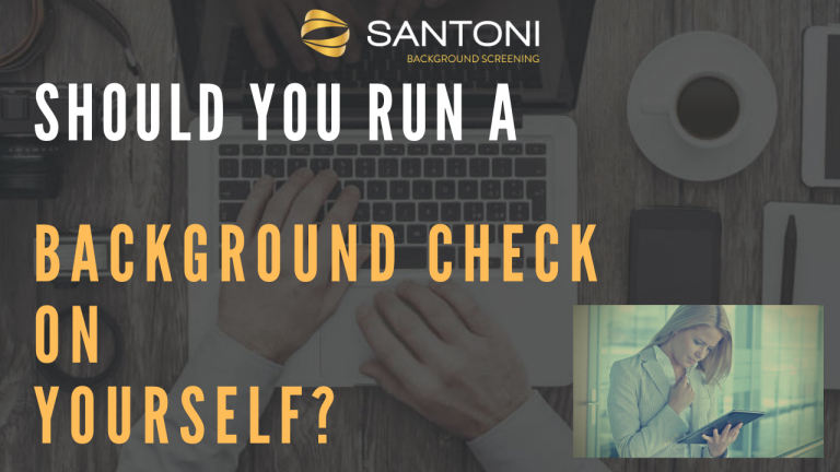 should you run a background check on youself
